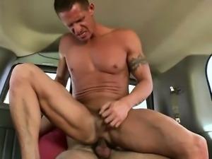 Baited straight bloke ass rams muscular gay bloke