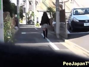 Asian teen piss and run