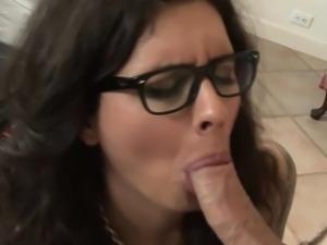 Stockinged fetish tgirl rides cock