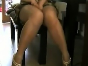 Naughty Girl Wearing Pantyhose