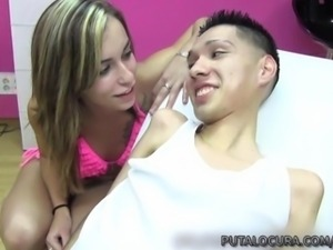 PUTA LOCURA Amateur teen rides handicapped