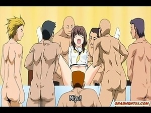 Bustiest hentai coeds groupfucked