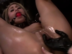 Strapon sub must lick femdom masters pussy