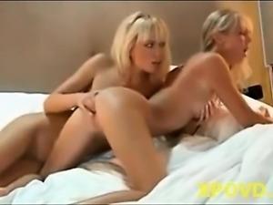 Very nice blond lesbian girl sex