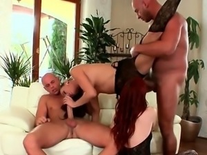 Two Hot Moms Have Orgy With Hung Gym Buddies