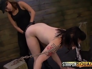 tattooed lesbian enslaved by dominant bitches