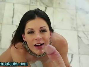 Cum eating deep throater