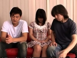 Innocent looking Alice Mizuno gets busted masturbating and