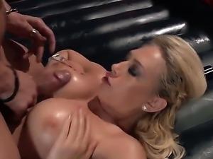 Wet busty bonde bombshell Kagney Linn Karter getting slam fucked