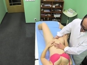 Sexy patient fucked by doctors cock in an office