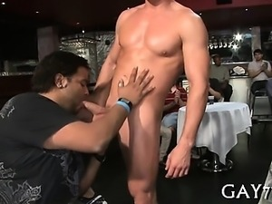 Horny gay chaps at party