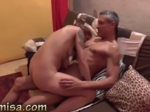 Tattooed brunette slut sucks and rides a cock