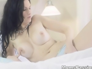 Moms Passions - Busty mom enjoys dildo fuck
