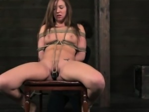 Boxtied sub gets nipples punished