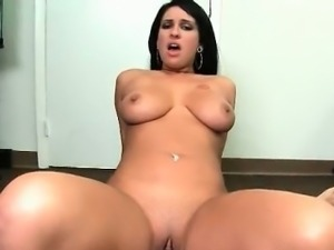 Sexy and busty brunette is picked part4