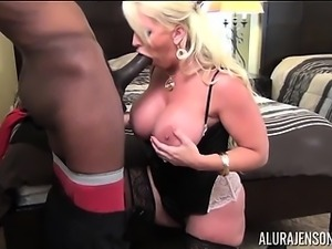 Big Tit Alura Jenson Sucks Big Black Cock