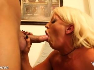Busty blonde babe Alura Jenson gets banged hard