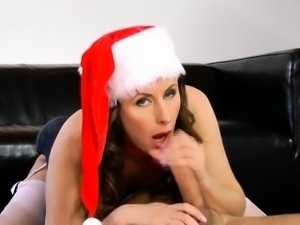 British mature in Christmas outfit fuck