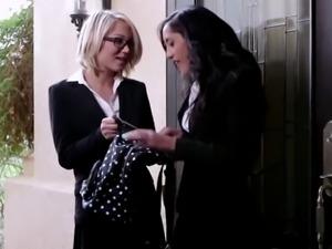 Hot provocative teens Dakota and Chloe is having lesbia