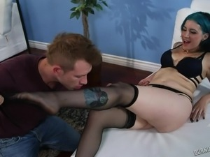 punk girl gets her ass squeezed