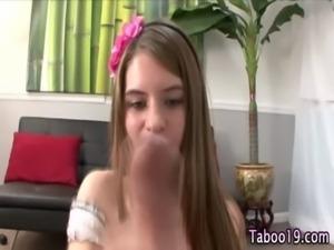 Cute teen step daughter free