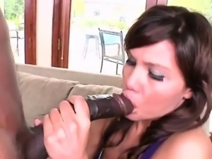 Kendall Fox shakes from big black cock