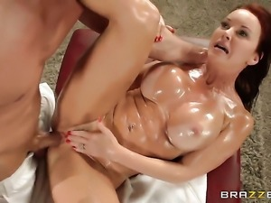 Janet Mason with gigantic jugs loves to suck and cant say No to hard cocked...