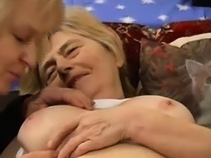 OmaPass Lesbian Granny fucking with hairy chubby mature