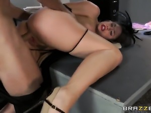 Chanel Preston with giant knockers doing wild things with hot fuck buddy...