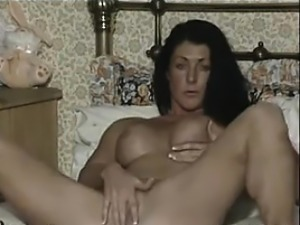 Horny British Chick Rubs Her Wet Pussy