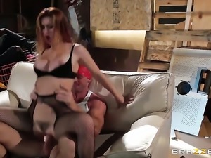 Johnny Sins is horny and cant wait any longer to slam pretty Karlie Montanas...