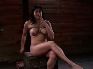 Fingered bdsm asian gags