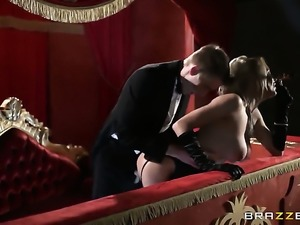 Tia Layne with giant boobs sucks like a pro in steamy oral action with Danny D