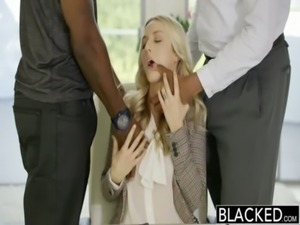 BLACKED Perfect Blonde Karla Kush With 2 Monster Black Cocks free