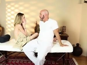 Big tits blonde massage