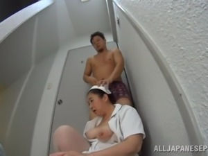 japanese in uniform blows a patient