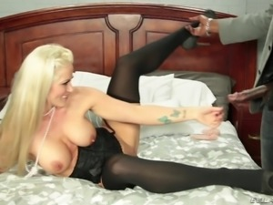 hot blonde badly needs it black @ evil milfs