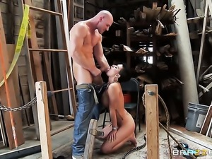 Johnny Sins gives seductive Eva Angelinas butt a try in hardcore sex action