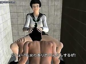 Animated mistress plays hardcore