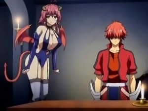 Romantic anime with massive tits