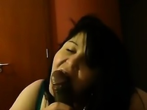 Thick Girl Blowing A Black Cock POV