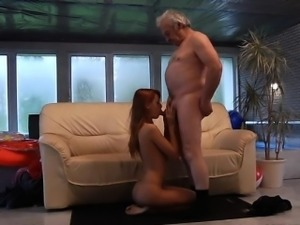 Horny wife first cum swallow