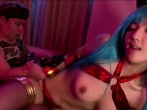 Sexy Demon cosplay and soldier fuck