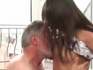 Grandpa fucking his young girlfriend