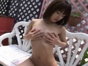 Aroused Asian babe has a threesome with eager dudes
