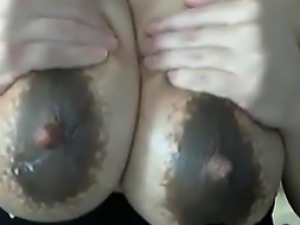 MILF Pumping Out And Licking Up Milk