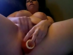 Horny Fat Chubby Teen with braces masturbating her wet pussy
