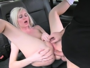 Hot blonde chooses anal sex with pervert driver over gym