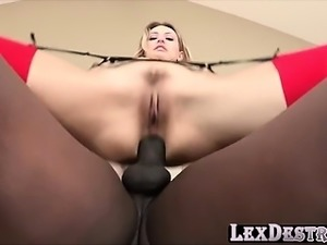 Sexy blonde Natasha Starr gets destroyed by Lexington Steele