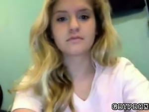 Beautiful 18 Year Old Blonde Plays Omegle Game